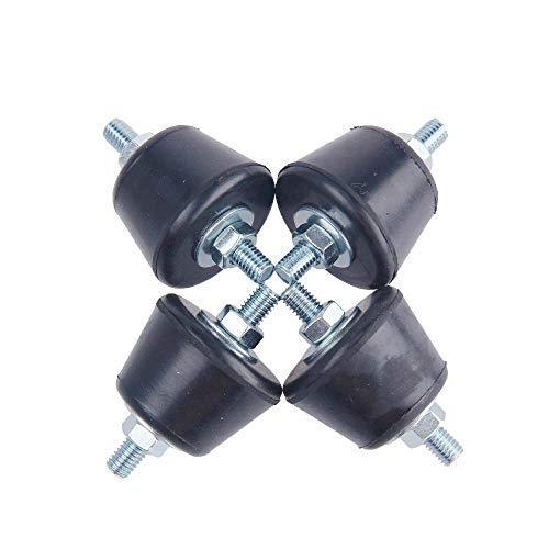 AC Parts Rubber Studs Shock Absorber Anit-Vibration Isolator Mounts for Mini Split Heat/Water Pumps, Air Compressors, Diesel Engines, Harvester, Generator, Gasoline Engines (4Pack) (Medium)