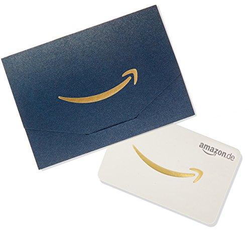 Amazon.de Geschenkkarte in Geschenkkuvert - 10 EUR (Dunkelblau und Gold)