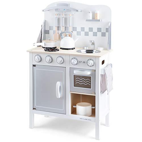 New Classic Toys Kitchenette-Bon Appetit-Deluxe-White/Silver, Colore, 11061
