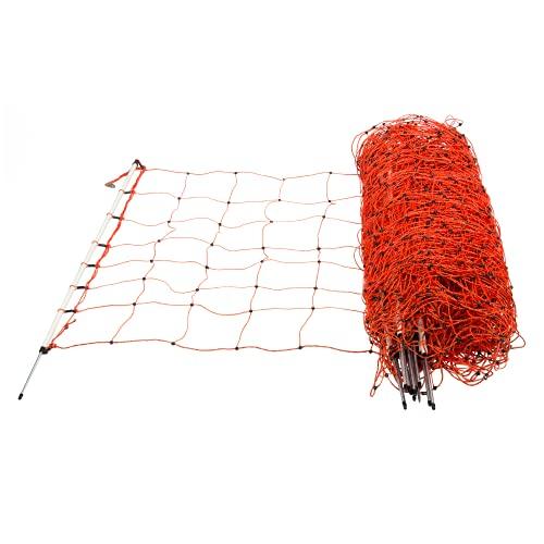 horizont Schafnetz Einzelspitze Höhe 90cm - Länge 50m - Schafzaun, Weidezaun, Elektrozaun, Ziegenzaun, Stromzaun - Elektrozaun perfekt für den Schutz Ihrer Schafe