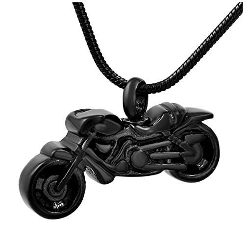 Ysain Colgantes Cenizas ¡Caliente! Collar con Colgante De Urna De Cremación De Acero Inoxidable para Motocicleta, Joyería De Recuerdo De Cenizas Conmemorativas Funerarias para Mujeres/Hombres