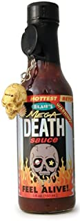 Hot Sauce, Blair's Mega Death Hot Sauce, 5oz Glass Jar, w/Skull Key Chain