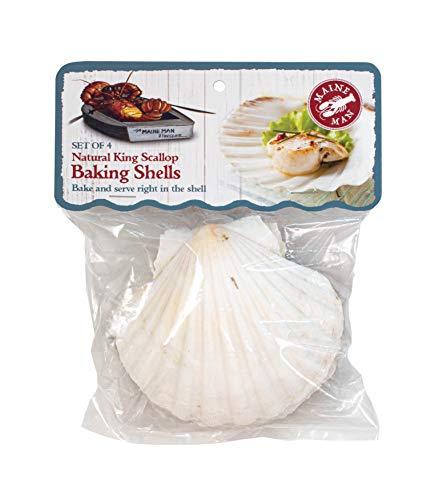 Maine Man Baking Shells, 4 Inch, Set of 4, Natural Seashell