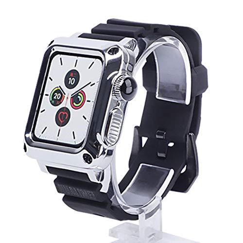 Carcasa protectora de metal para iwatch SE 6 5 4 40 mm 44 mm Estuche metálico para hombre + banda para Apple Watch 3 2 1 38 mm 42 mm Estuche