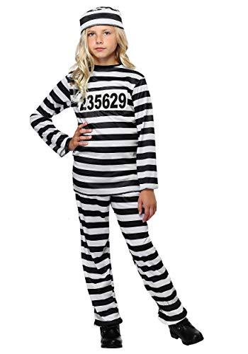 Girl's Prisoner Costume Large