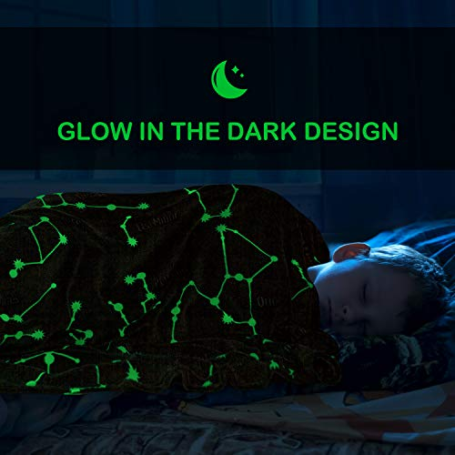 Product Image 7: Kanguru Glow in The Dark Constellation Blanket, Christmas Thanksgiving Blanket Gifts for Birthday Kids Women Girls Boy Best Friend