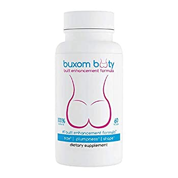 Buxom Booty Butt Enhancement Pills 2X Potent Top Results Rated Herbal Formula 100% Natural Vcaps  30 Day Supply