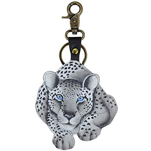 Anuschka Handtaschen Bemalt Leopard Tasche Charm/Schlüssel - K0023