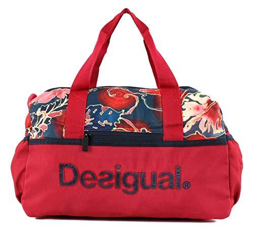 Desigual Geopatch Gym Bag Rojo Abril