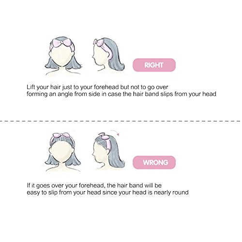 Shintop Women Fashion Lovely Soft Carol Fleece Bowknot Bow Makeup Cosmetic Shower Elastic Hair Band Hairlace Headband (Pink)