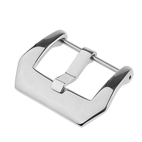 Harilla Per Orologio Fibbia Fibbia Sostituzione Vite in Acciaio Inossidabile 18mm-26mm - Argento, 22mm