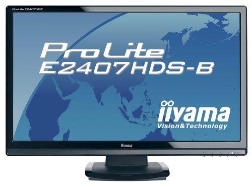 Iiyama ProLite E2407HDS B1 Monitor LCD TFT 61cm 240 1920x1080 Audio TCO 03 klavierschwarz