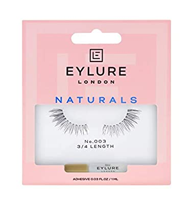 Eylure Naturals False Lashes, Style No. 003, Reusable, Adhesive Included, 1 Pair