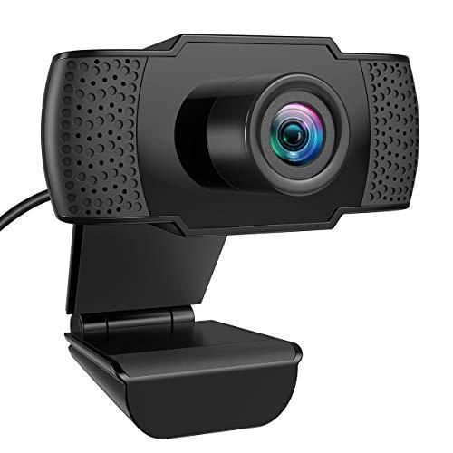 Criacr Webcam, Full HD Webcam 1080P, PC Laptop Desktop USB Webkamera mit Mikrofon, Webkamera für Videoanrufe, Studieren, Konferenzen, Aufzeichnen, Spielen mit drehbarem Clip