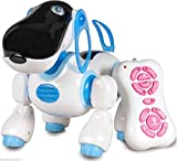 Domenico Children Smart Storytelling Robot Dog, Sing Dance Walking Talking Dialogue Cute Pet Toy with Infrared Remote Control - Blue