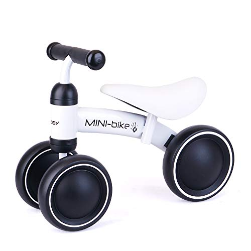 Baby Balance Bikes Bicycle for 1-2 Year Old Girl/Boy, Best Cycling Toy Ride on Riding 1st First Birthday Mini Kids White