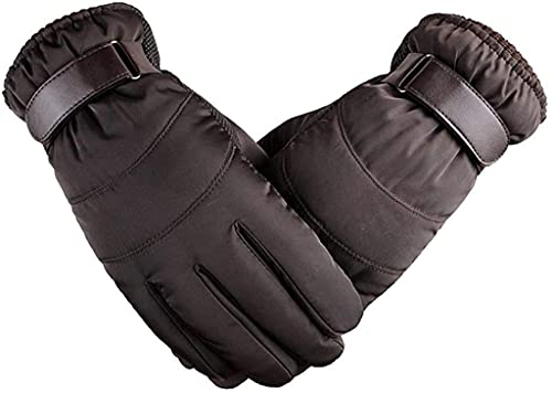 GHCXY Unisex-Adult Mittens Winter Mens Gloves Thick Cotton Ski Rain Warm Modern Casual Gloves Outdoor Sports Motorcycle Cycling,b,M