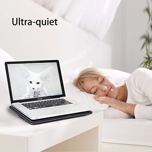 """Laptop Cooling pad-for 15""""-17"""" Computers,Portable Ultra-Thin Silent Cooling pad, with 2 USB Ports, 3 red LED Silent Fans, Adjustable Bracket, Extra Long Standby for Work"""