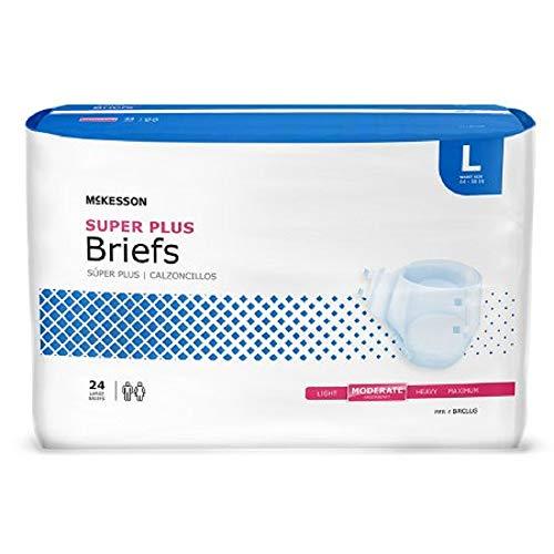 Mckesson Regular Adult Disposable Brief Diaper, Large, 72 Count