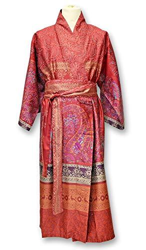 Bassetti - Kimono RECANATI I Color Rojo R1 I Talla L-XL I Bata I Albornoz I Abrigo Corto