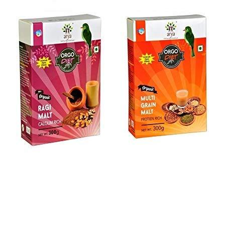 Arya Farm Now on sale Health Drink Powder Mix 300g M Ragi with Malt Sprouted Max 88% OFF