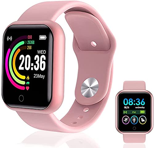 Smart Watch, Fitness Tracker with Heart Rate Monitor, Activity Tracker with 1.44 Inch Touch Screen,Waterproof,Sleep Monitor,Activity Tracker Pedometer for Women and Men,for iPhone Android (Pink)