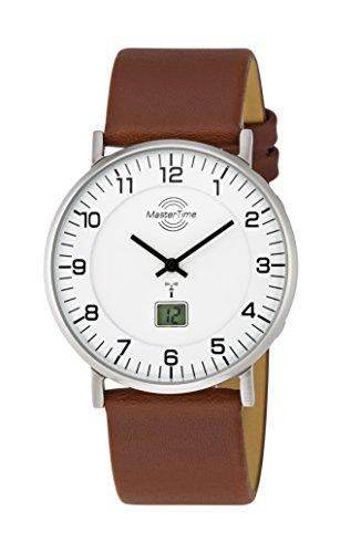 Master Time Funk Quarz Herren Uhr Analog-Digital mit Leder Armband MTGS-10561-12L