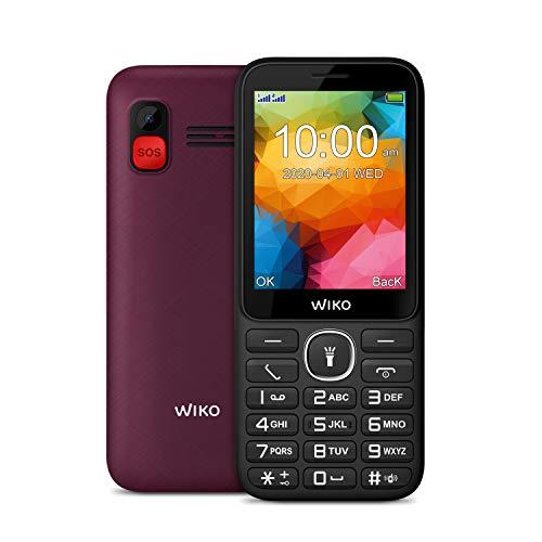 Wiko F200 Téléphone portable débloqué 2G (Ecran 2,8 pouces - Batterie 1200 mAh - Bouton SOS et socle de chargement) Purple
