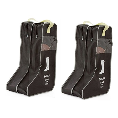 Rekukos Portable 2 Packs,Tall Boots Storage/Protector Bag,Boots Cover (Black)