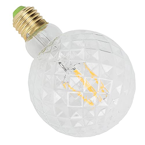 COHU Lampada a filamento ad Alta luminosità, Lampadina Decorativa a LED a Luce Calda Vetro Trasparente per Bagno per Soggiorno per Camera da Letto(Trasparente)