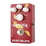 ZDAMN Guitar effect processor Multi Delay Guitar Effects Pedal With Digital Circuit True Bypass Pedal Digital Circuit Design Guitar tuning accessories (Color : Red, Size : One size)