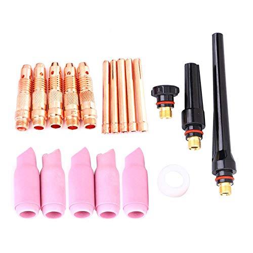 24-delige WIG-lasbrander accessoires lasbrander onderdelen verbruiksmateriaal kit geschikt voor WP17 / 18/26