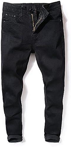 Dufjodi Stretch Jean Pantalon Hiver Noir, Tous Les Hommes Les Pantalons Slim,noir,Trente et Un