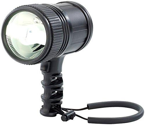 KryoLights Suchscheinwerfer: LED-Handlampe 10 W, 480 Lumen, für bis zu 350 m Leuchtweite (Handlampe mit Akku)