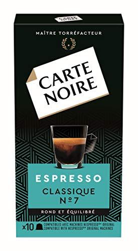 Carte Noire Café Espresso Classique N°7 Capsules Compatibles Nespresso, 10 Paquets de 10 capsules (100 Capsules)