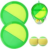 INPODAK Upgraded Toss and Catch Ball Set with Portable Bag, Paddle Catch Ball Games-Indoor Games and Outdoor Games for...