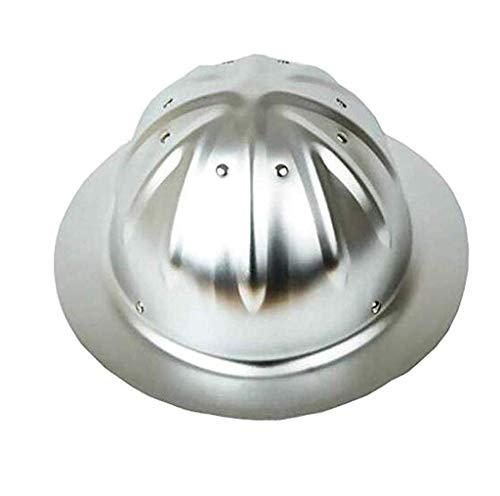 Helme Aluminium, Große Hüte Helm für Außen Bauhelm mit Schatten von Sun Wide Brim,A