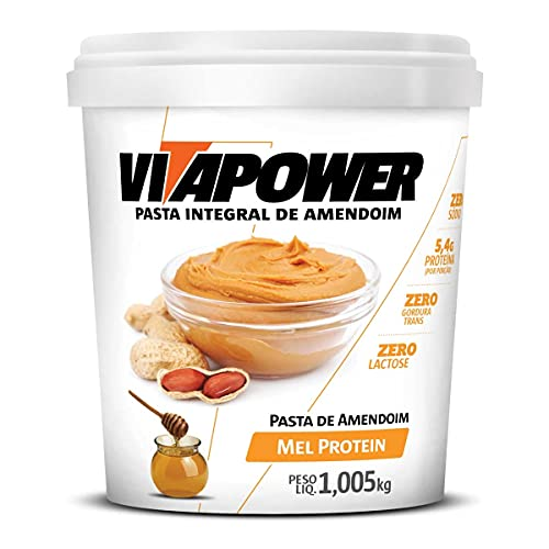 Pasta de Amendoim Sabores Naturais (1,005Kg) - Sabor Mel Protein, Vita Power