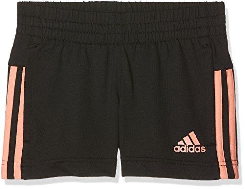 adidas Mädchen Little Girls Knitted Short, Black/Chalk Coral s18, 92