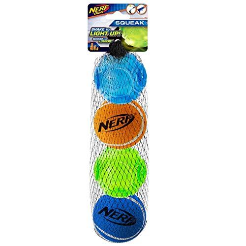 Nerf Dog LED TPR Sonic & Tennis Ball - 4er Set