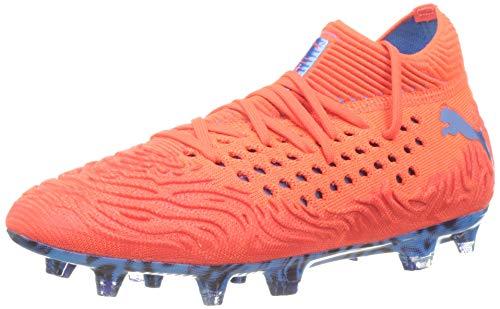 PUMA Future 19.1 Netfit FG/AG JR, Unisex-Kinder Fußballschuhe, Rot (RED Blast-BLEU Azur 01), 38 EU (5 UK)
