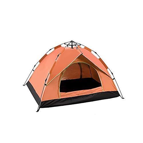 DJXLMN Carpa de Playa emergente/Techo hidráulico a Prueba de Agua protección UV Bolsa portátil jardín de Camping al Aire Libre Interior,Naranja,3 to 4people