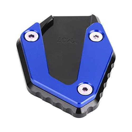 Ampliador de soporte lateral para motocicleta, soporte de extensión antideslizante para Yamaha MT 07 / FZ 07 / TRACER 700 2014(azul)