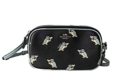 New Coach F30259 Crossbody Pouch In Pebble Leather Black