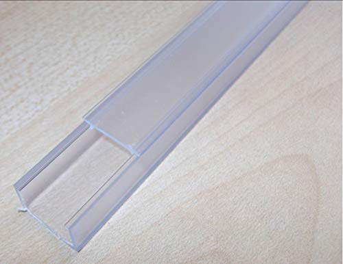 Innovo 300 mm Kanal für LED-Lichtstreifen, transparentes PVC, mit Diffusor