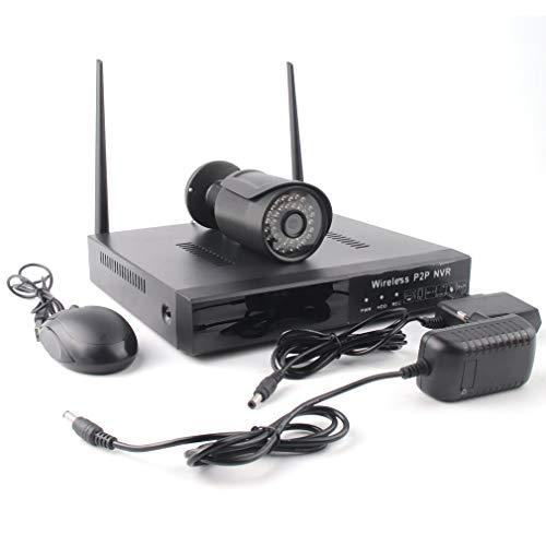 HehiFRlark - Kit de videovigilancia para vigilancia H.265 de cámara de seguridad en casa (Wi-Fi, 8 CH inalámbrico)