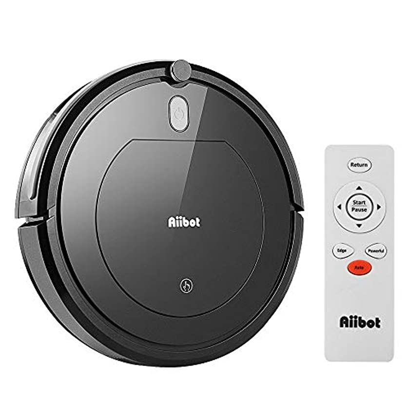 Aiibot Robot Vacuum Cleaner, Convenient Smart Automatic Vacuum Cleaner Sweeping Robot, Three Cleaning Modes for Pet Hair, Carpet and Hardwood Floor - Shipped from US (Black)