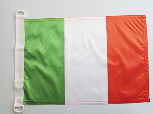 AZ FLAG BOOTFLAGGE Italien 45x30cm - ITALIENISCHE BOOTSFAHNE 30 x 45 cm Marine flaggen Top Qualität