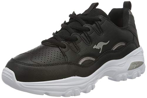 KangaROOS Damen KW-Birdy Sneaker, Jet Black/Silver 5002, 39 EU