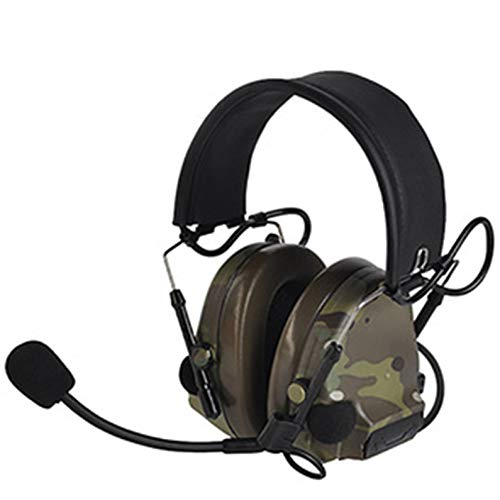 GXYAS Tactische communicatie headset head-mounted pickup ruisonderdrukking stem sport walkie-talkie headset camouflage LJ